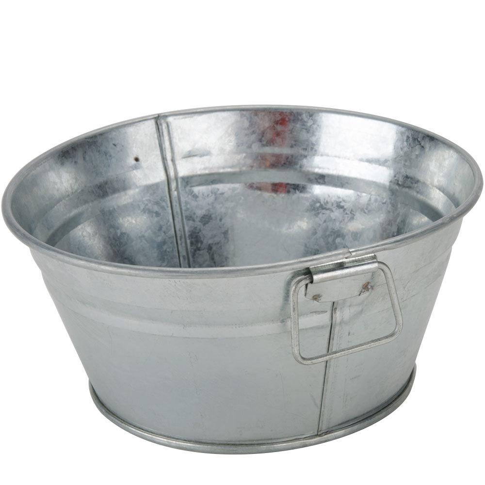 American Metalcraft MTUB63 Round Galvanized Metal Tub