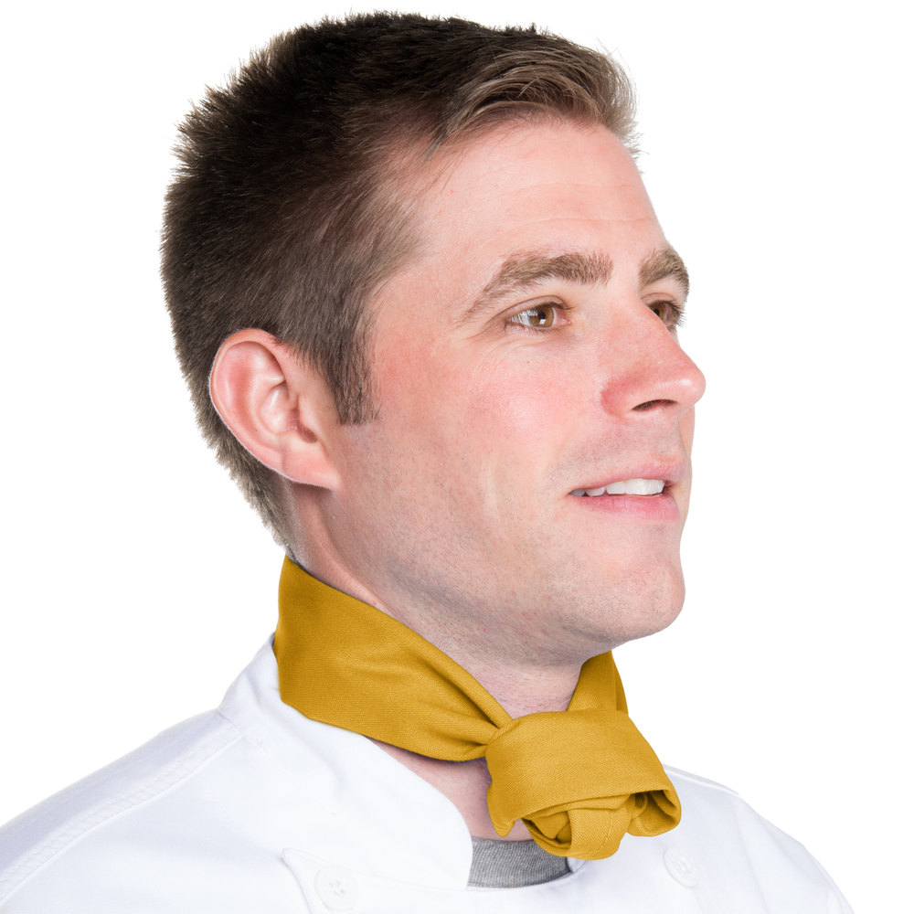 "37"" x 14"" Gold Chef Neckerchief / Bandana"