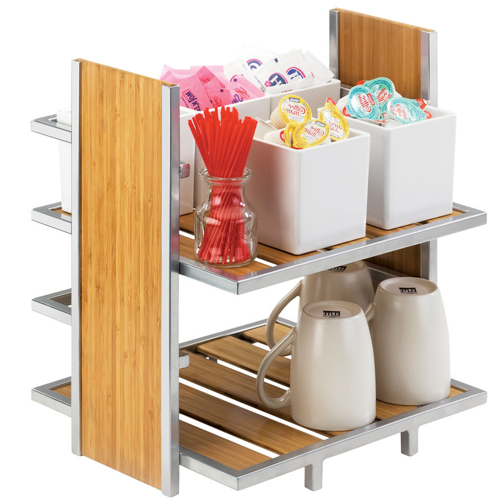 "Cal-Mil 1278 Eco Modern Two Tier Merchandiser - 14"" x 11 1/2"" x 15"""