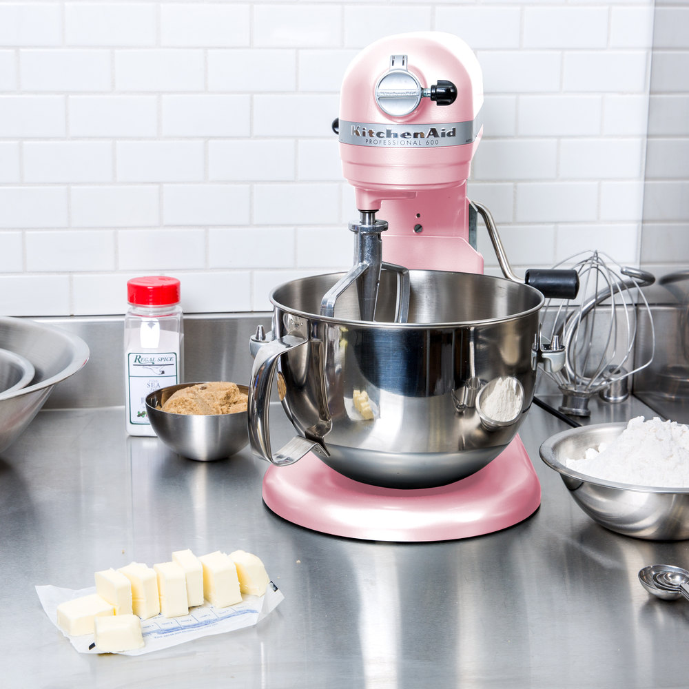 Kitchenaid Pro 600 Colors kitchenaid kp26m1xpk pink professional 600 series 6 qt. countertop