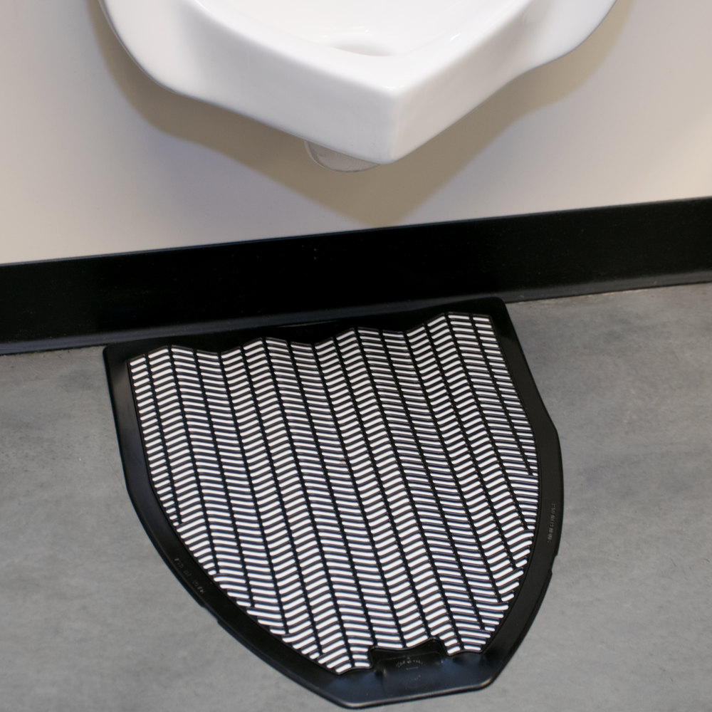 "20"" x 18"" Black Disposable Urinal Mat (IMP 1525-5)"
