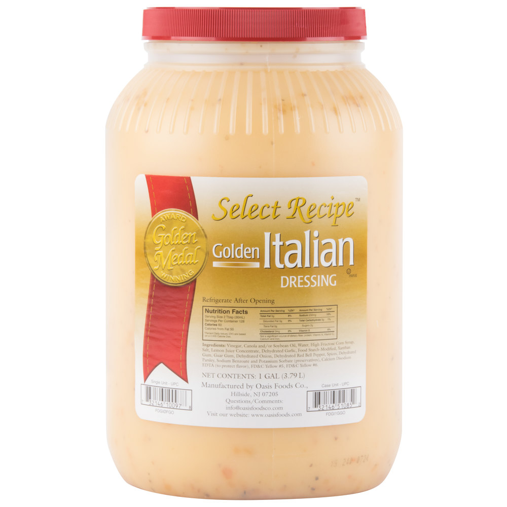 Golden Italian Dressing - (4) 1 Gallon Containers / Case - 4/Case