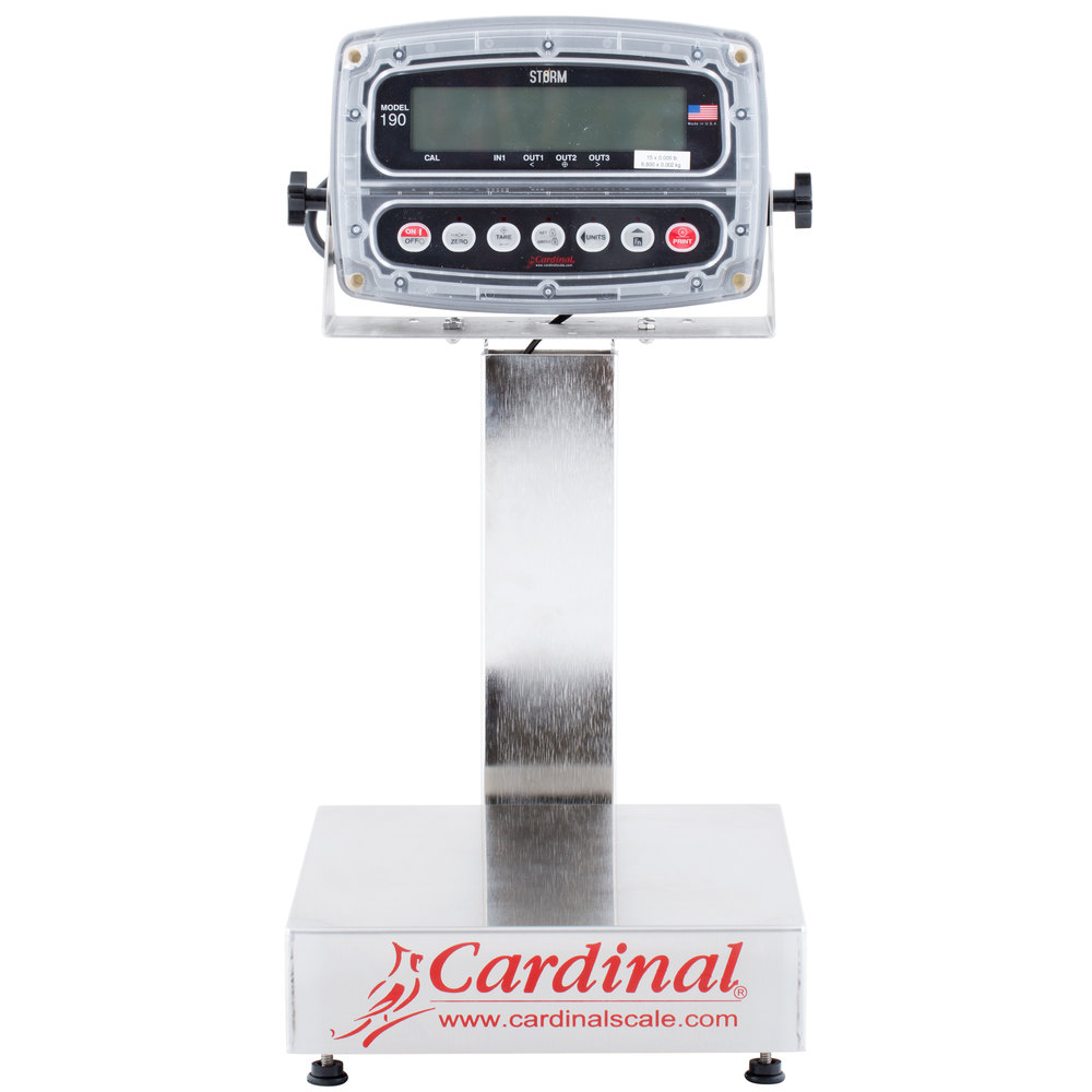Cardinal Detecto EB-15-190 15 lb. Electronic Bench Scale with 190 Indicator, Legal for Trade