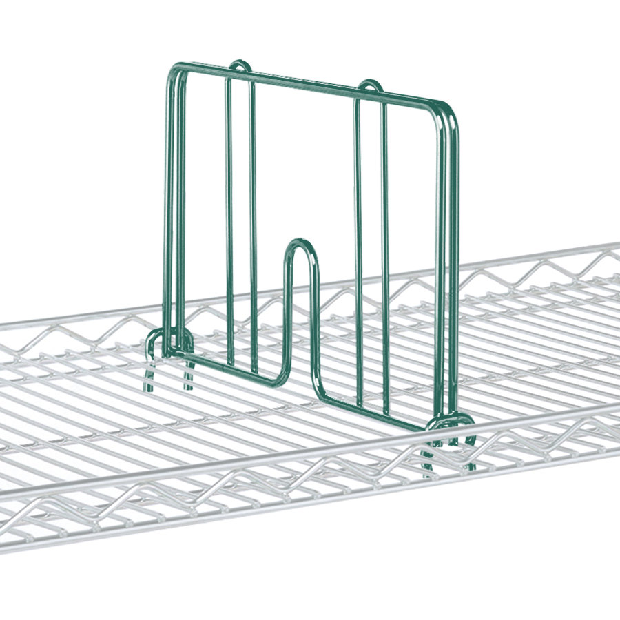 "Metro HD24-DHG Hunter Green Drop Mat Snap-On Divider - 24"" Wide"