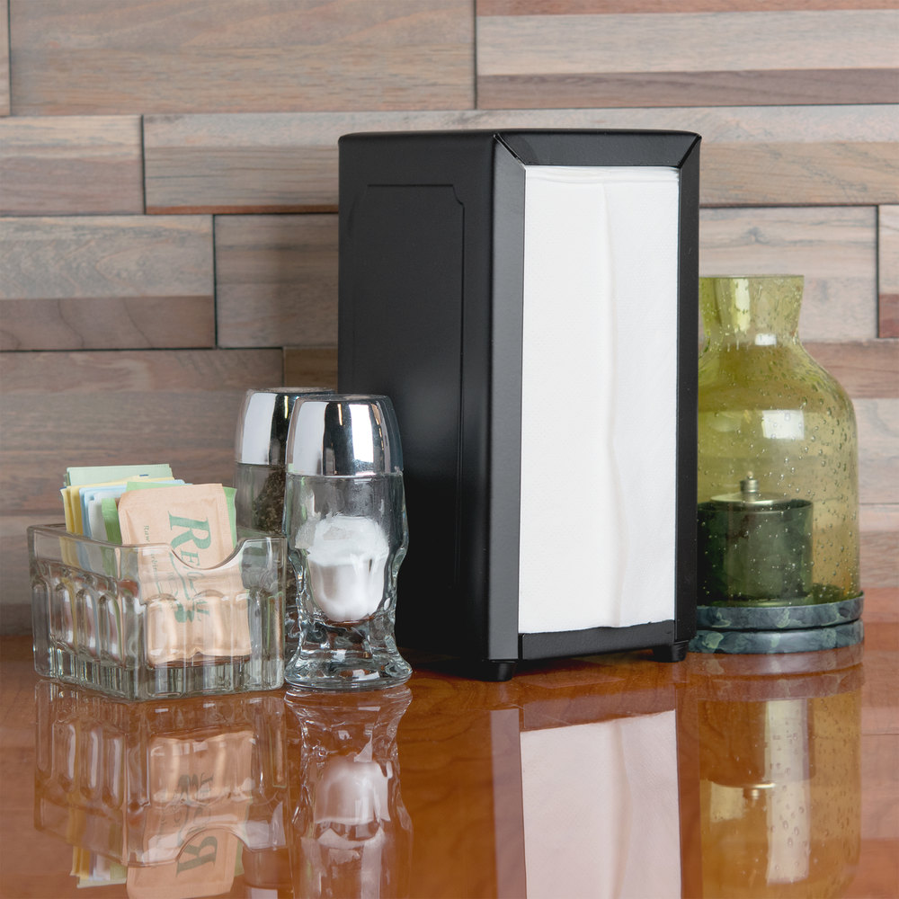 Tablecraft 2212 Tallfold Napkin Dispenser- Black