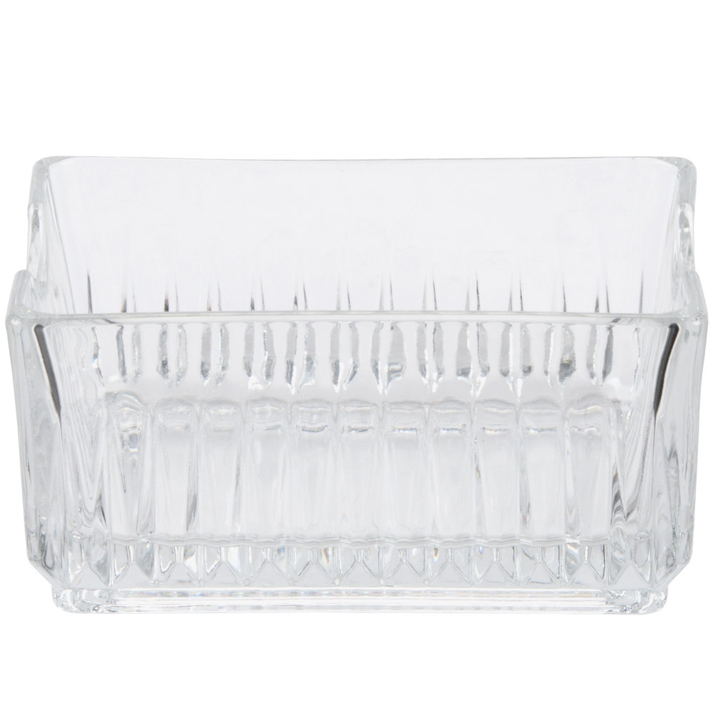 "Libbey 5460 Winchester 4 1/4"" Glass Sugar Package Holder - 3/Pack"