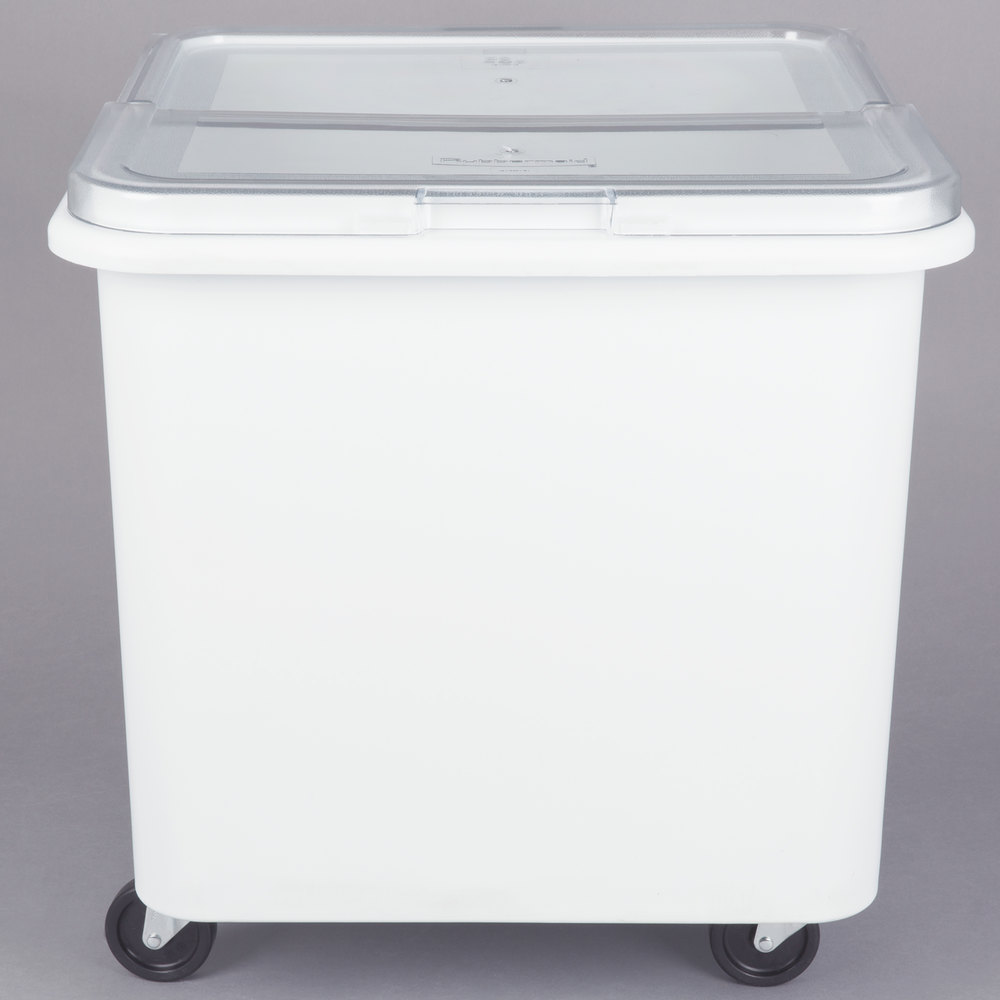 rubbermaid fg360100wht prosave 28 gallon ing storage bin with flat top - Rubbermaid Tubs