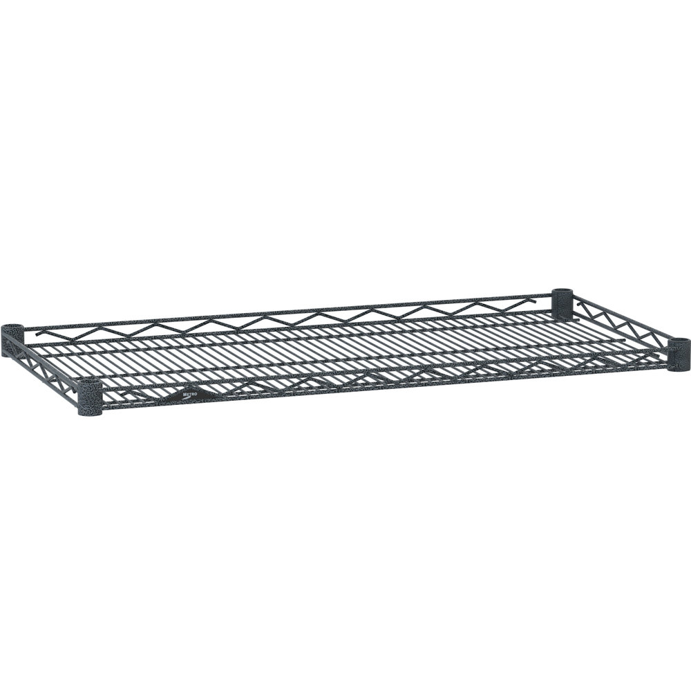 "Metro HDM1848-DSH Super Erecta Silver Hammertone Drop Mat Wire Shelf - 18"" x 48"""