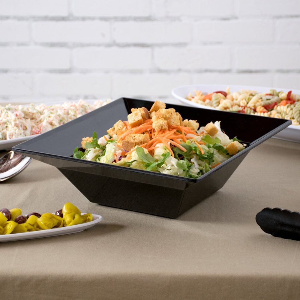 GET ML-245-BK 3.8 Qt. Black Siciliano Square Bowl - 3/Case