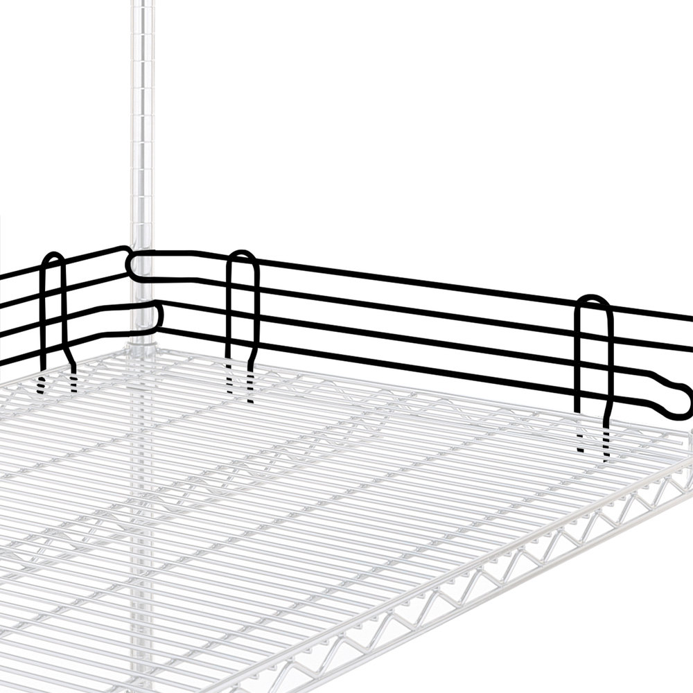 "Metro L54N-4-DBM Super Erecta Black Matte Stackable Ledge 54"" x 4"""