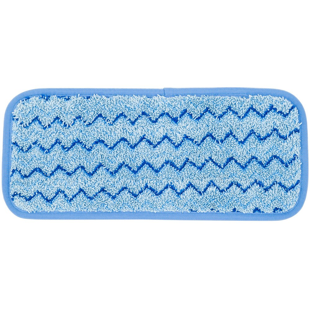 "Rubbermaid Q820 HYGEN 11"" Quick Connect Microfiber Wall / Stair Wet Mop Pad (FGQ82000BL00)"