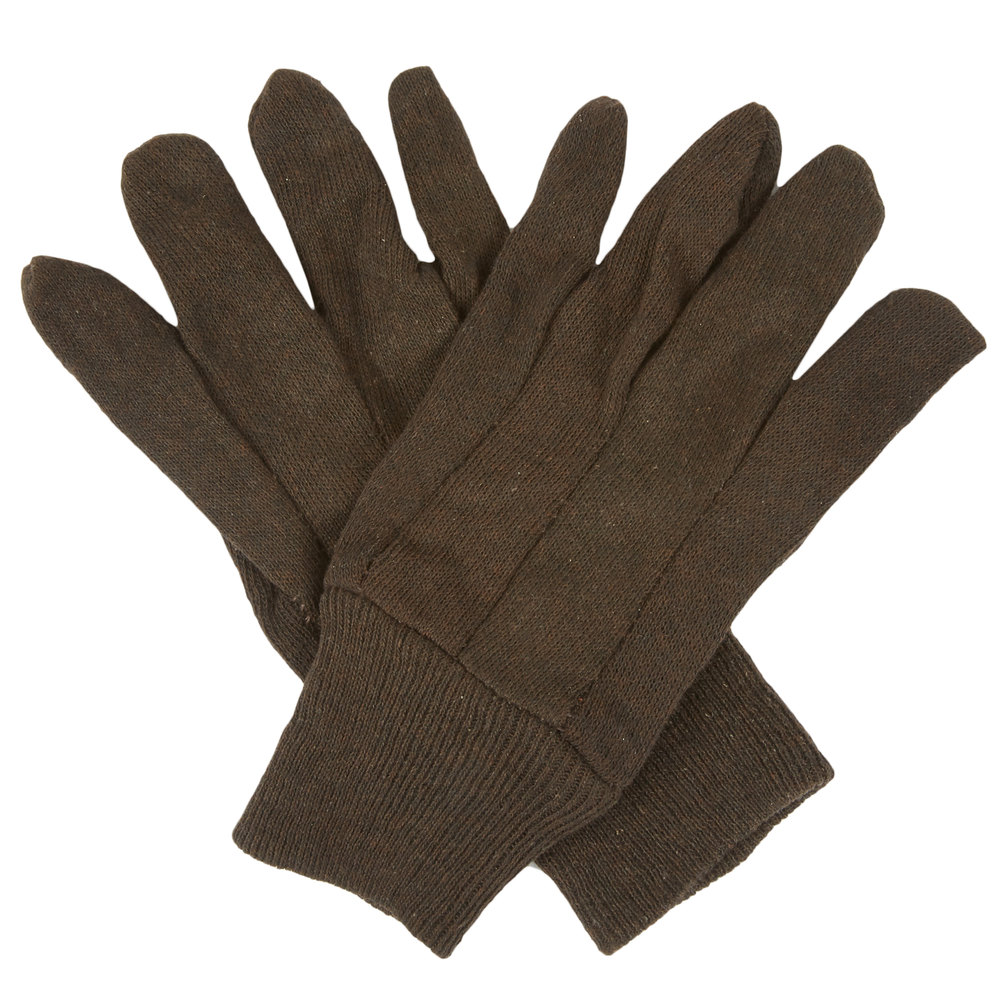 Premium Brown Jersey Gloves Large 12 Pack