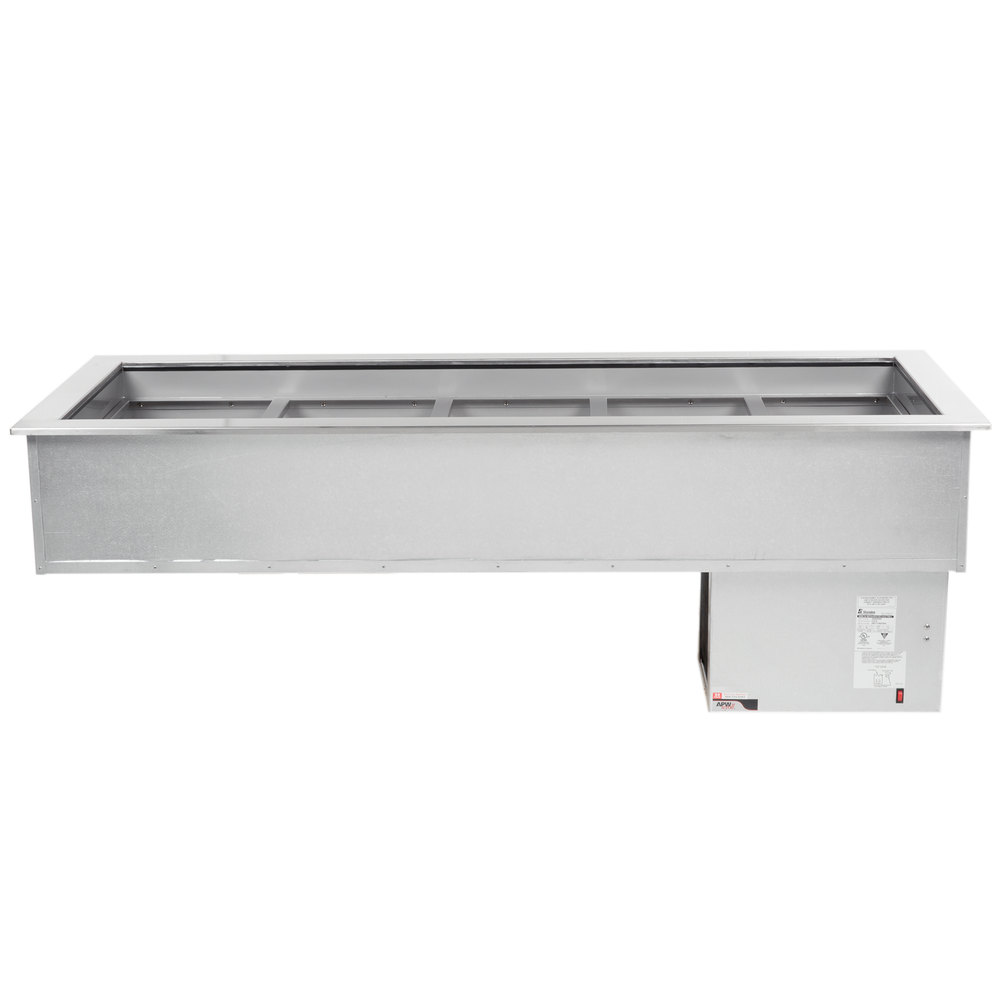 APW Wyott CW-5 5 Pan Drop In Refrigerated Cold Food Well 120V