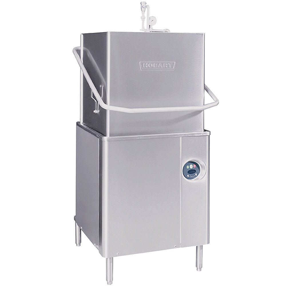 Hobart AM15-2 Single Rack High Temperature Straight/Corner Dishwasher with  Booster Heater - 208/240V, 3 Phase