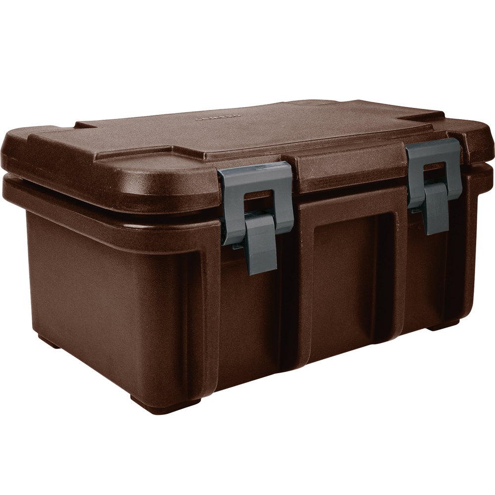 "Cambro UPC180131 Dark Brown Camcarrier Ultra Pan Carrier - Top Load for 12"" x 20"" Food Pan"