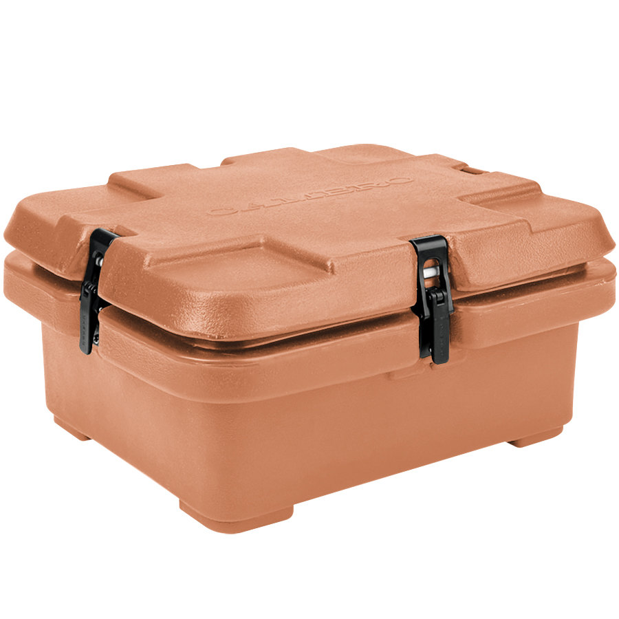 "Cambro 240MPC157 Camcarrier 4"" Deep Beige Top Loading Inuslated Food Pan Carrier"