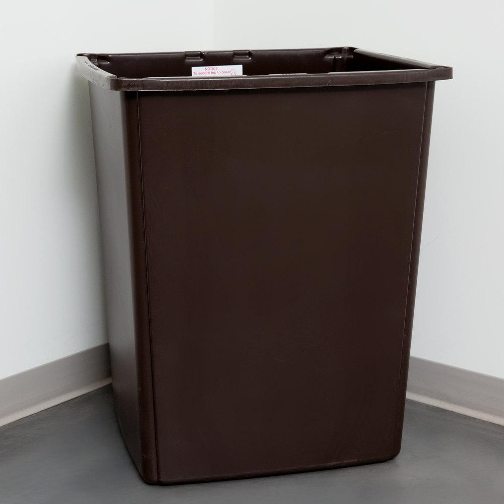rubbermaid fg256b00brn glutton 56 gallon brown trash can