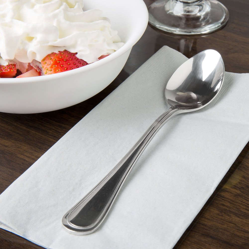 Regal Flatware Stainless Steel Dessert Spoon - 12/Pack