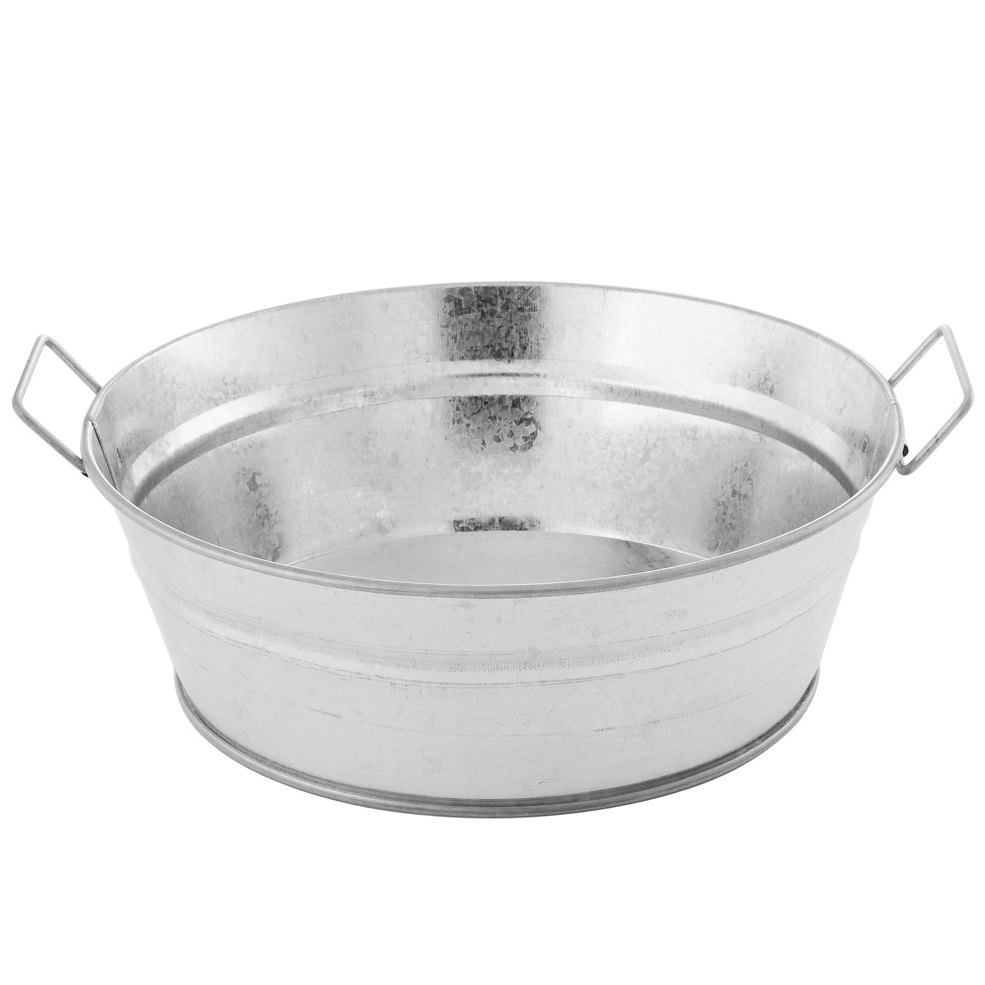 american metalcraft mtub83 8 x 3 round galvanized metal tub