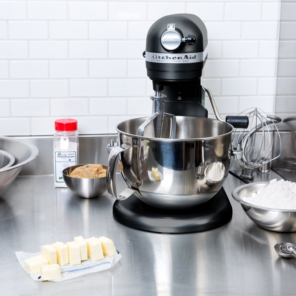 Kitchenaid Kp26m1xlc Licorice Professional 600 Series 6 Qt
