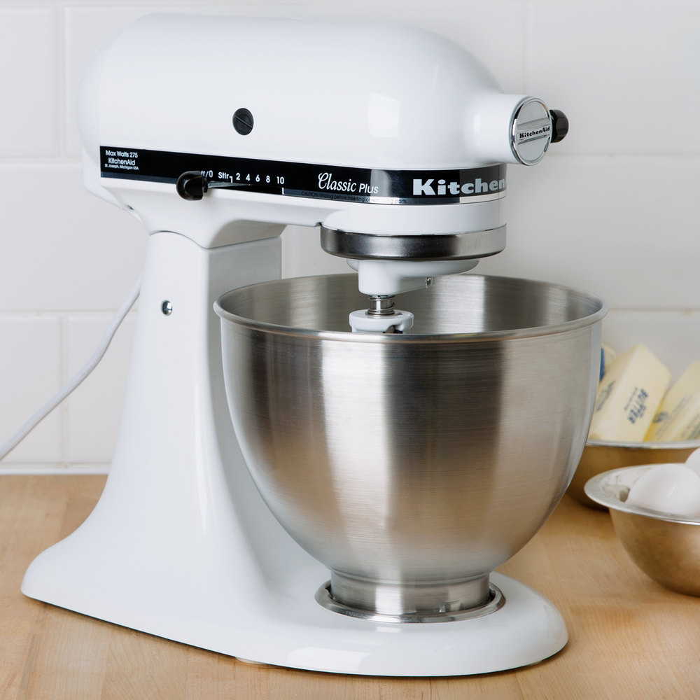 Kitchenaid Ksm75wh White 4 5 Qt Countertop Mixer
