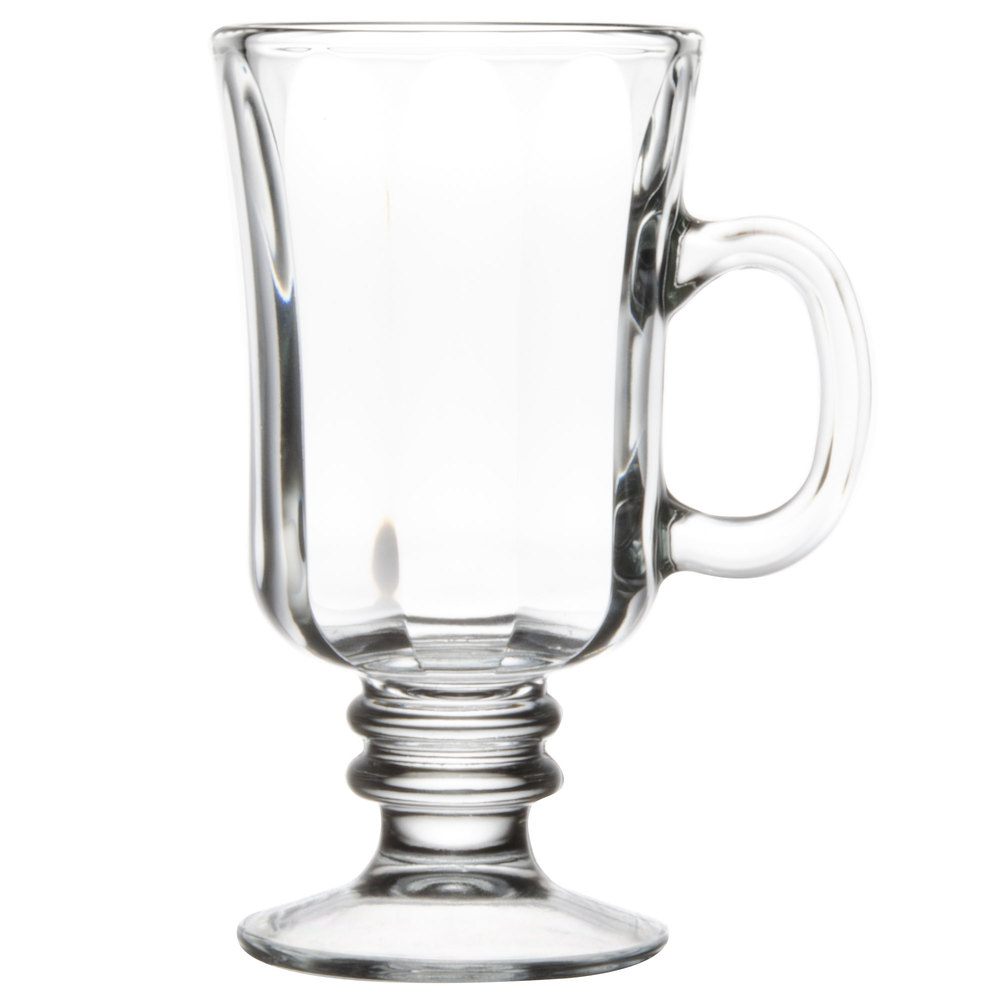 Libbey 5294 Oz Irish Glass Coffee Mug With Optic