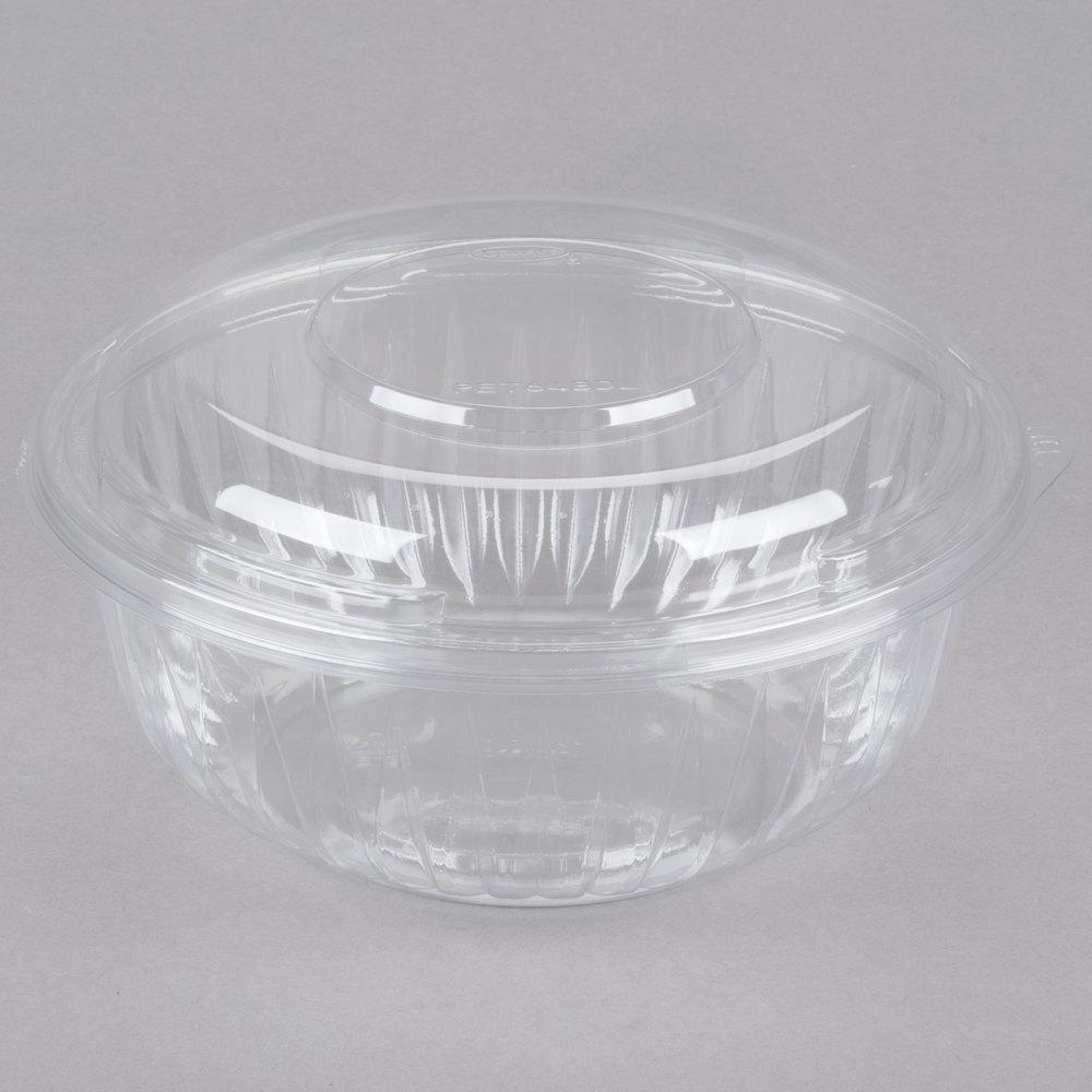 dart solo pet32bcd presentabowls 32 oz clear plastic bowl with dome lid 126 case. Black Bedroom Furniture Sets. Home Design Ideas