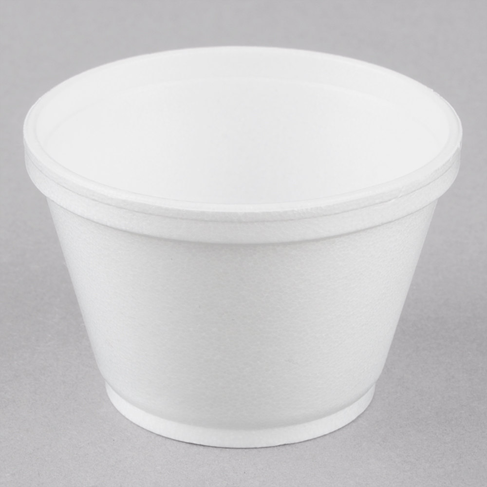 Dart 6sj12 6 Oz White Foam Food Bowl 50 Pack