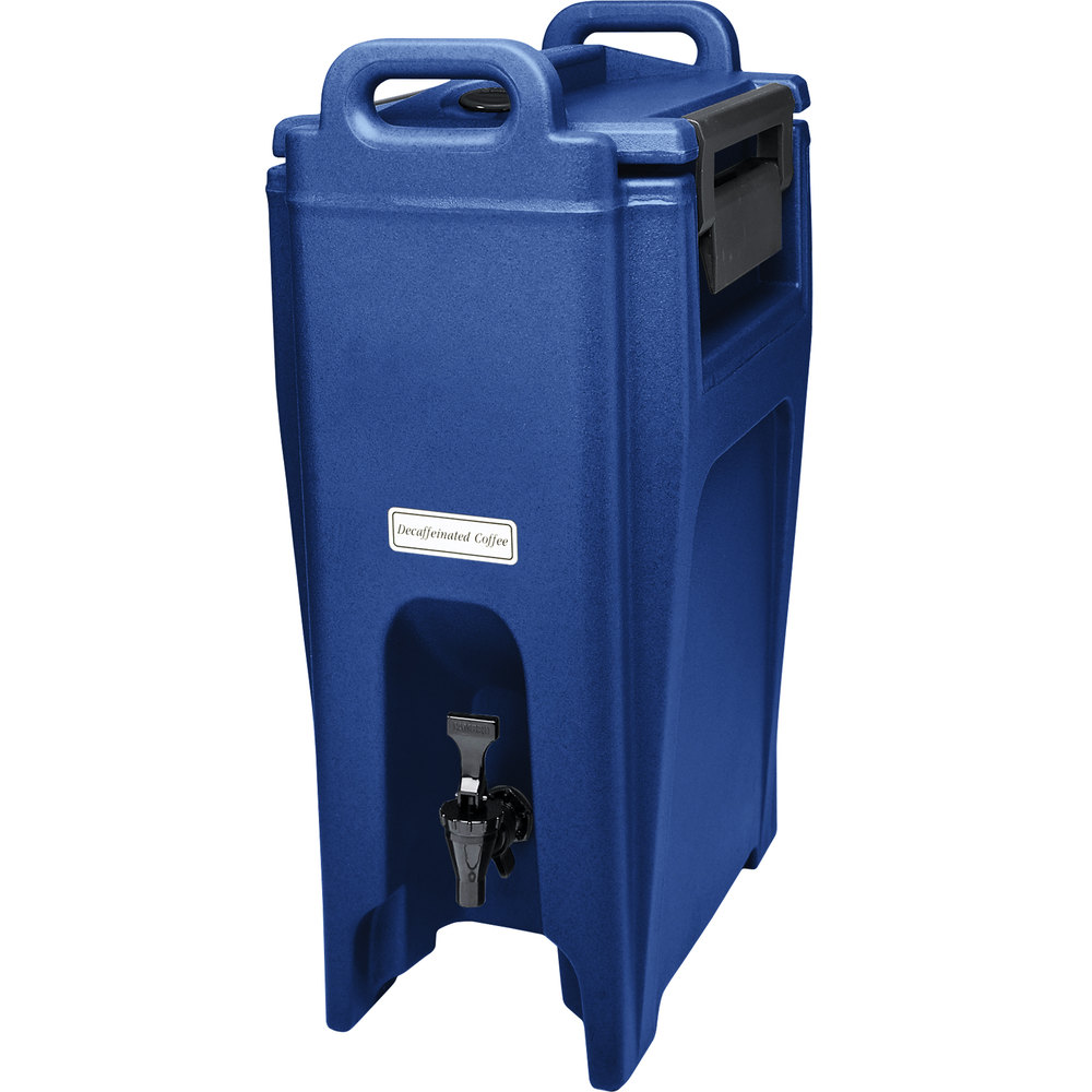 Cambro UC500186 Ultra Camtainer 5.25 Gallon Navy Blue Insulated Beverage Dispenser