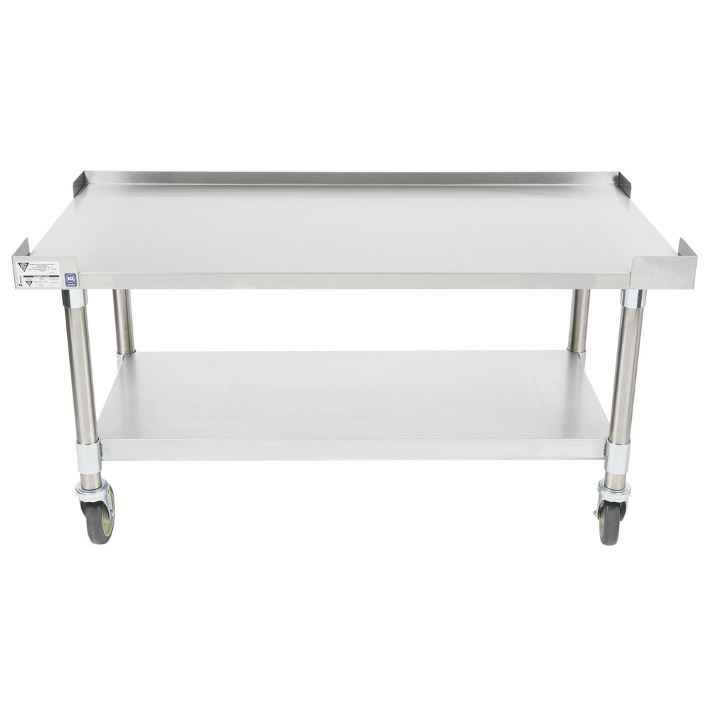 "APW Wyott HDS-24C 24"" x 30"" Heavy Duty Cookline Equipment Stand with Galvanized Undershelf and Casters"