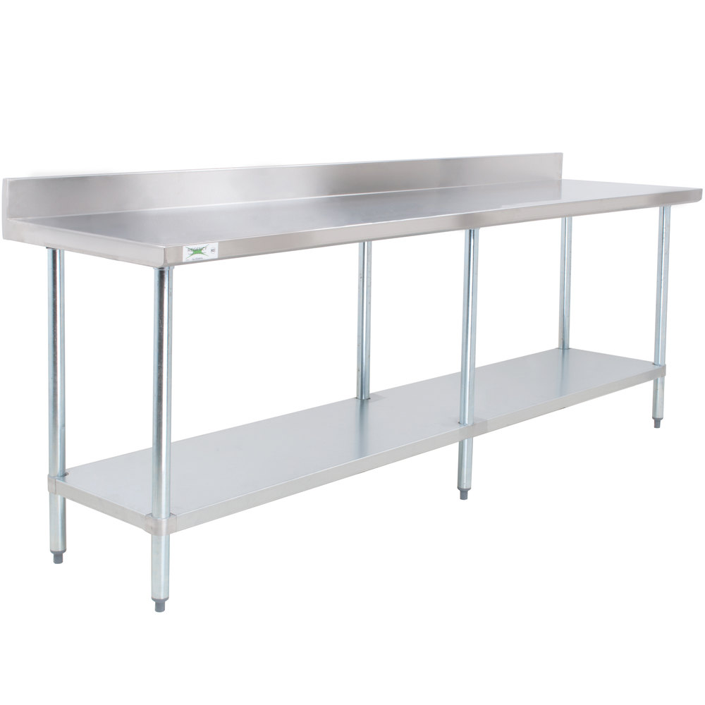 regency 30 x 96 18 gauge 304 stainless steel commercial work table with
