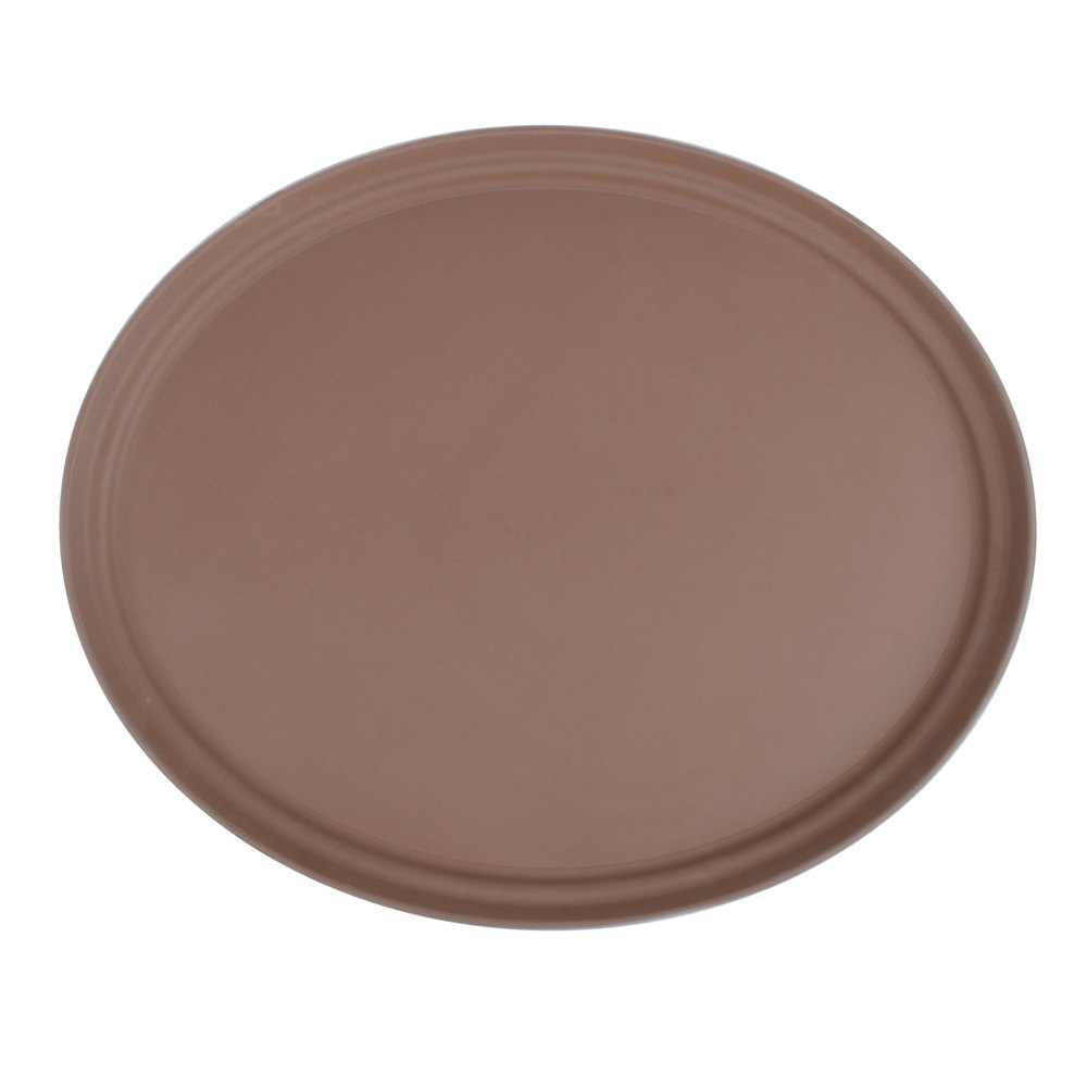 27 Quot Brown Oval Fiberglass Non Skid Serving Tray