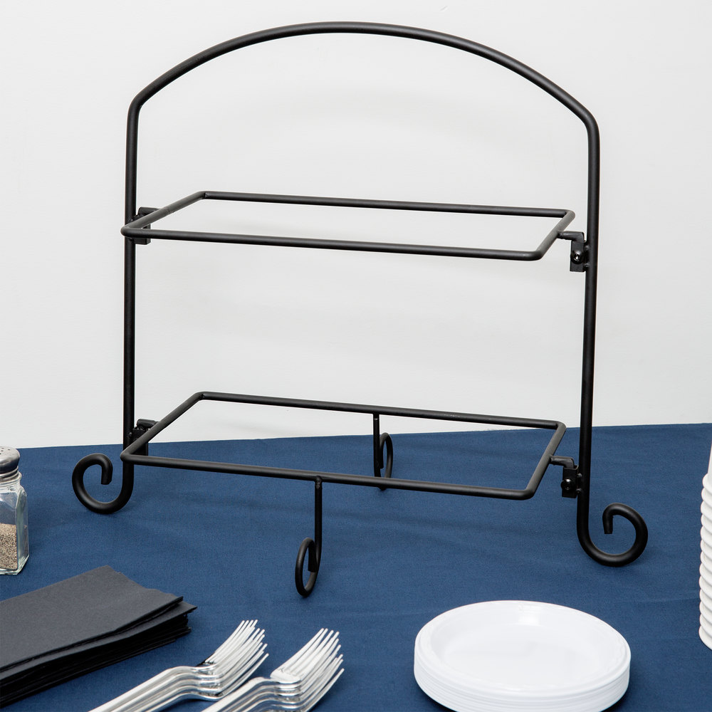 American Metalcraft IS11 Two-Tier Rectangular Tray Stand