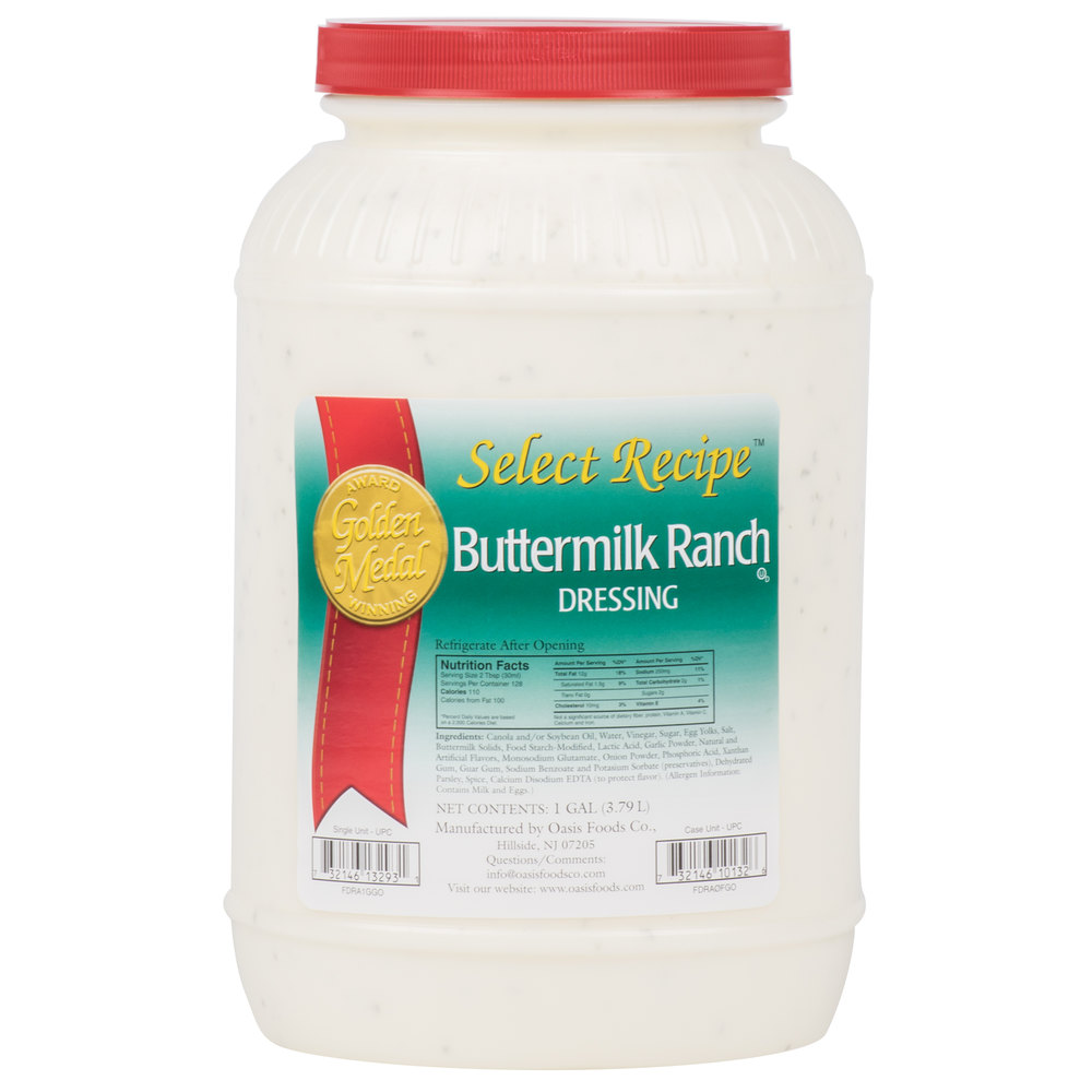 Ranch Dressing (4) 1 Gallon Containers / Case