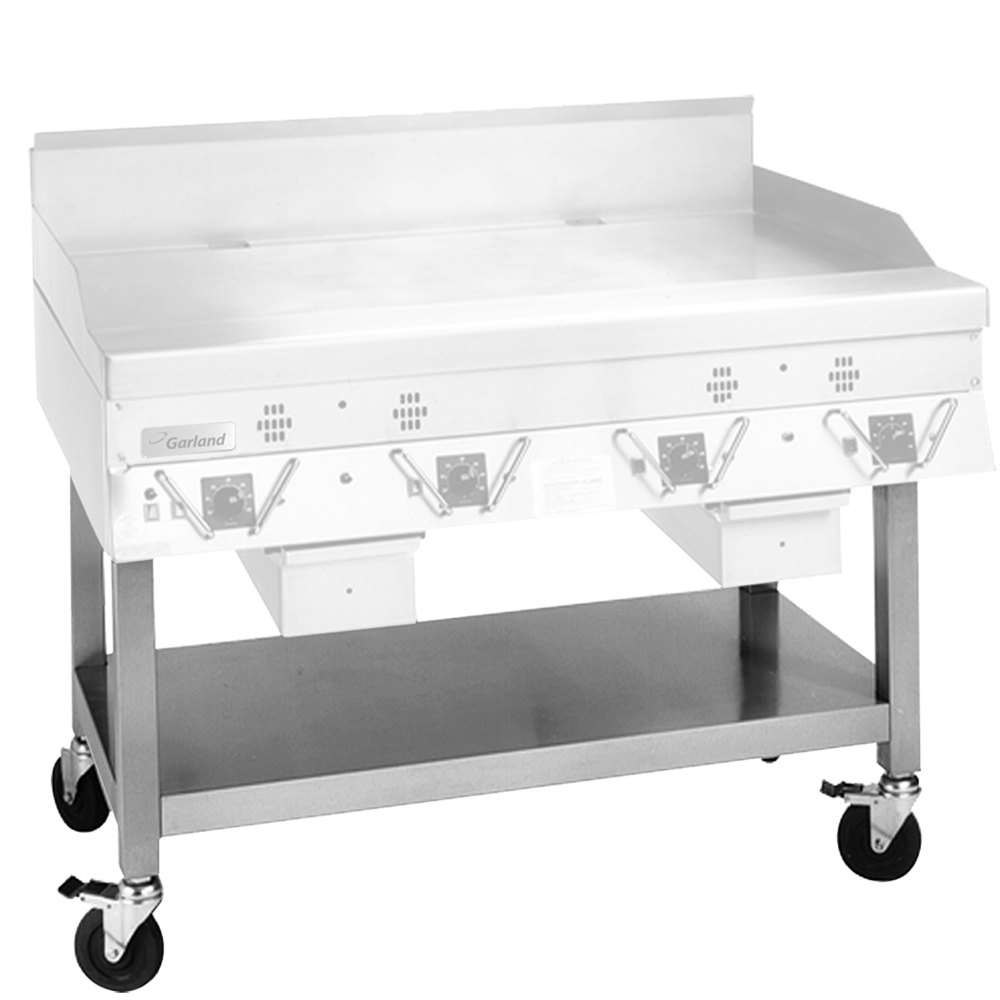 Garland SCG-48SSC Stainless Steel Equipment Stand with Undershelf and Casters for CG-48R and ECG-48R Griddles