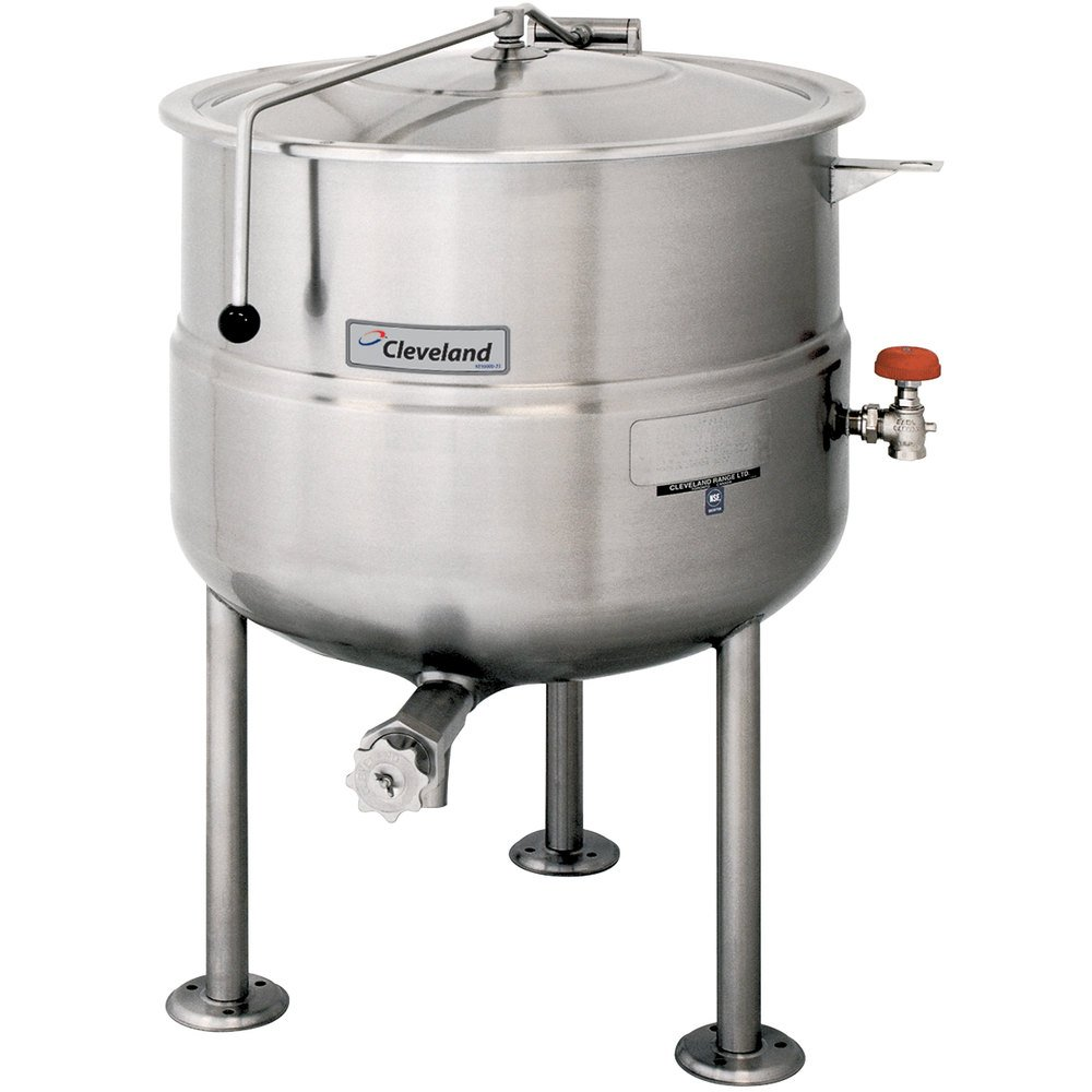 Cleveland KDL-150 150 Gallon Stationary 2/3 Steam Jacketed Direct Steam Kettle