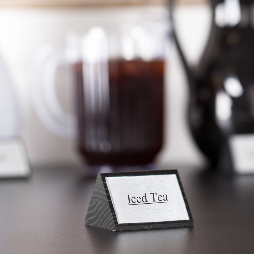 "American Metalcraft SIGNIT2 Black Wood ""Iced Tea"" Sign"