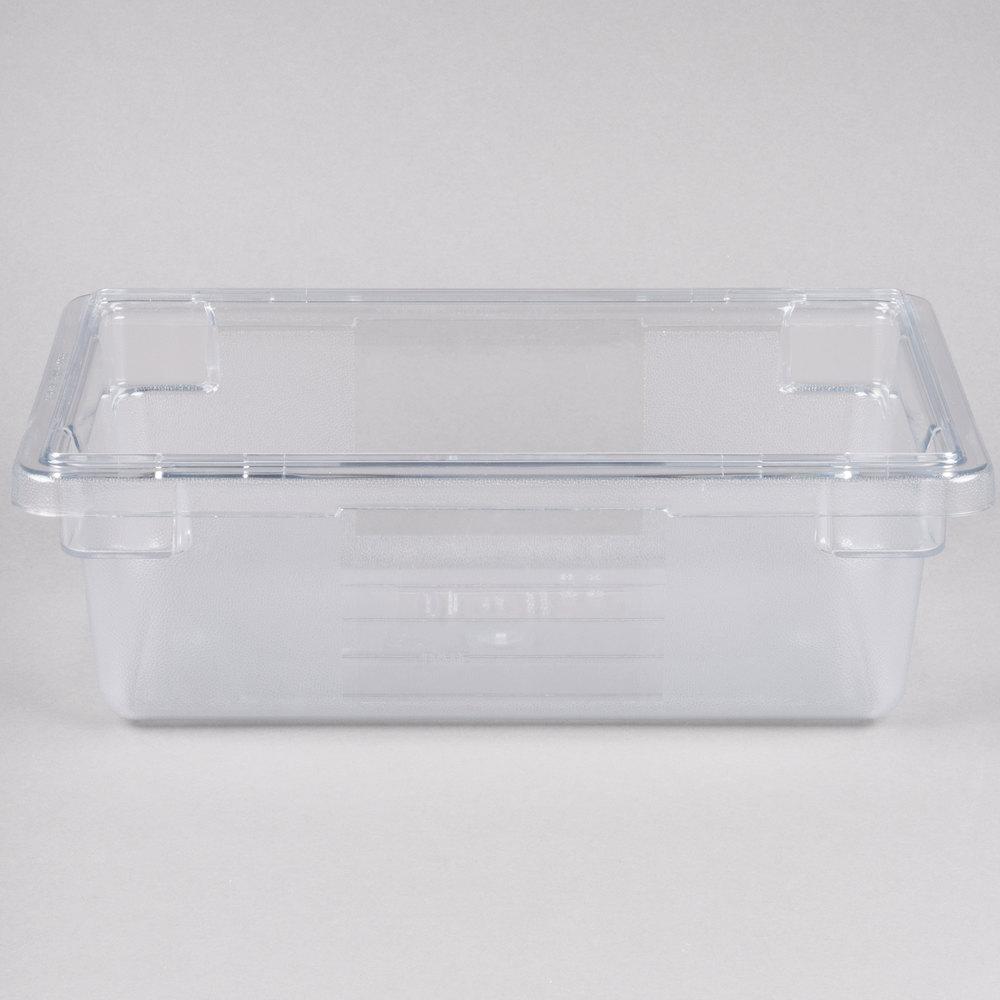 rubbermaid fg330900clr clear polycarbonate food storage. Black Bedroom Furniture Sets. Home Design Ideas