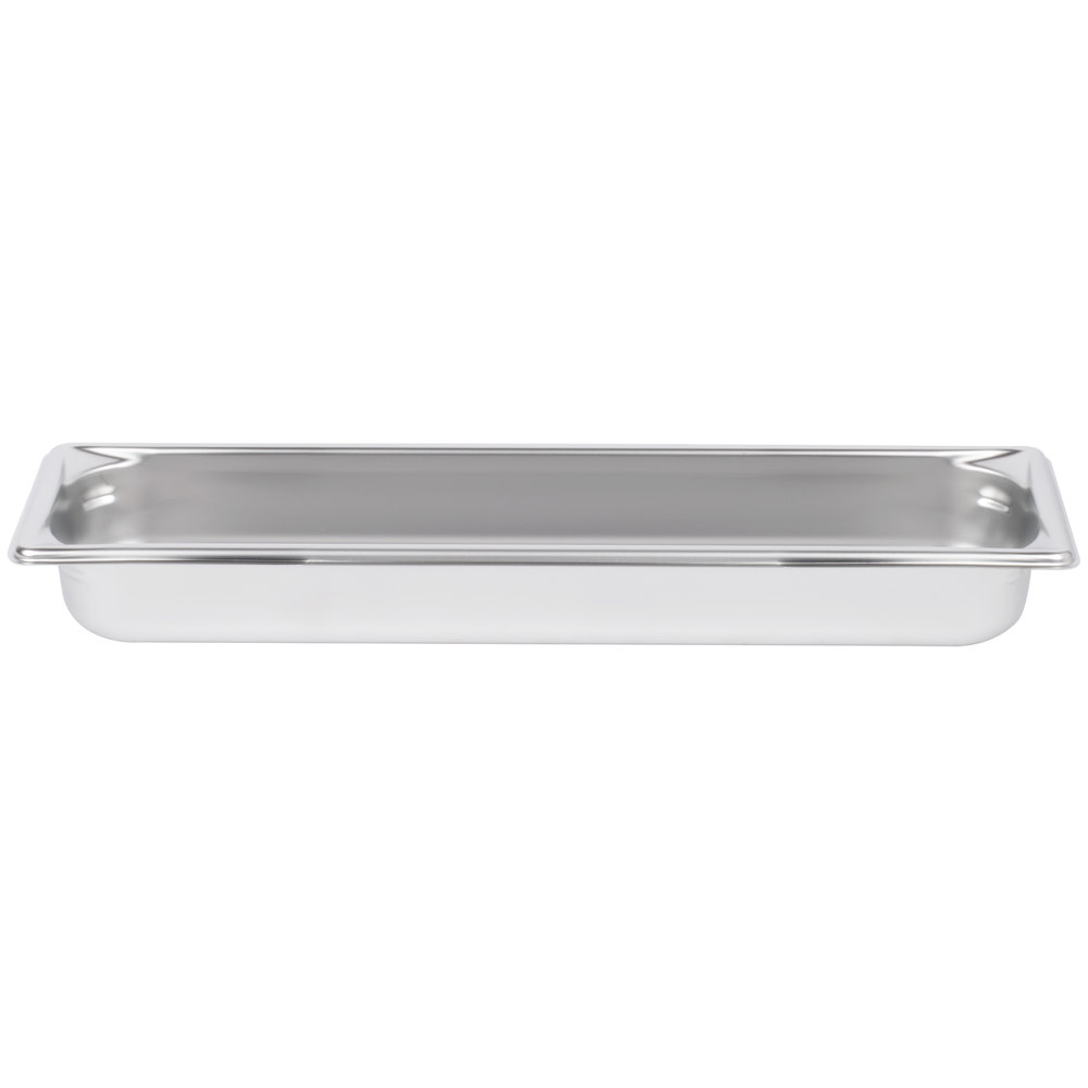 "Vollrath 90522 Super Pan 3® 1/2 Size Long Anti-Jam Stainless Steel Steam Table Pan - 2 1/2"" Deep"