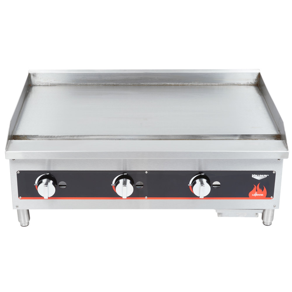 "Vollrath 40721 Cayenne 36"" Flat Top Gas Countertop Griddle - Manual Control"
