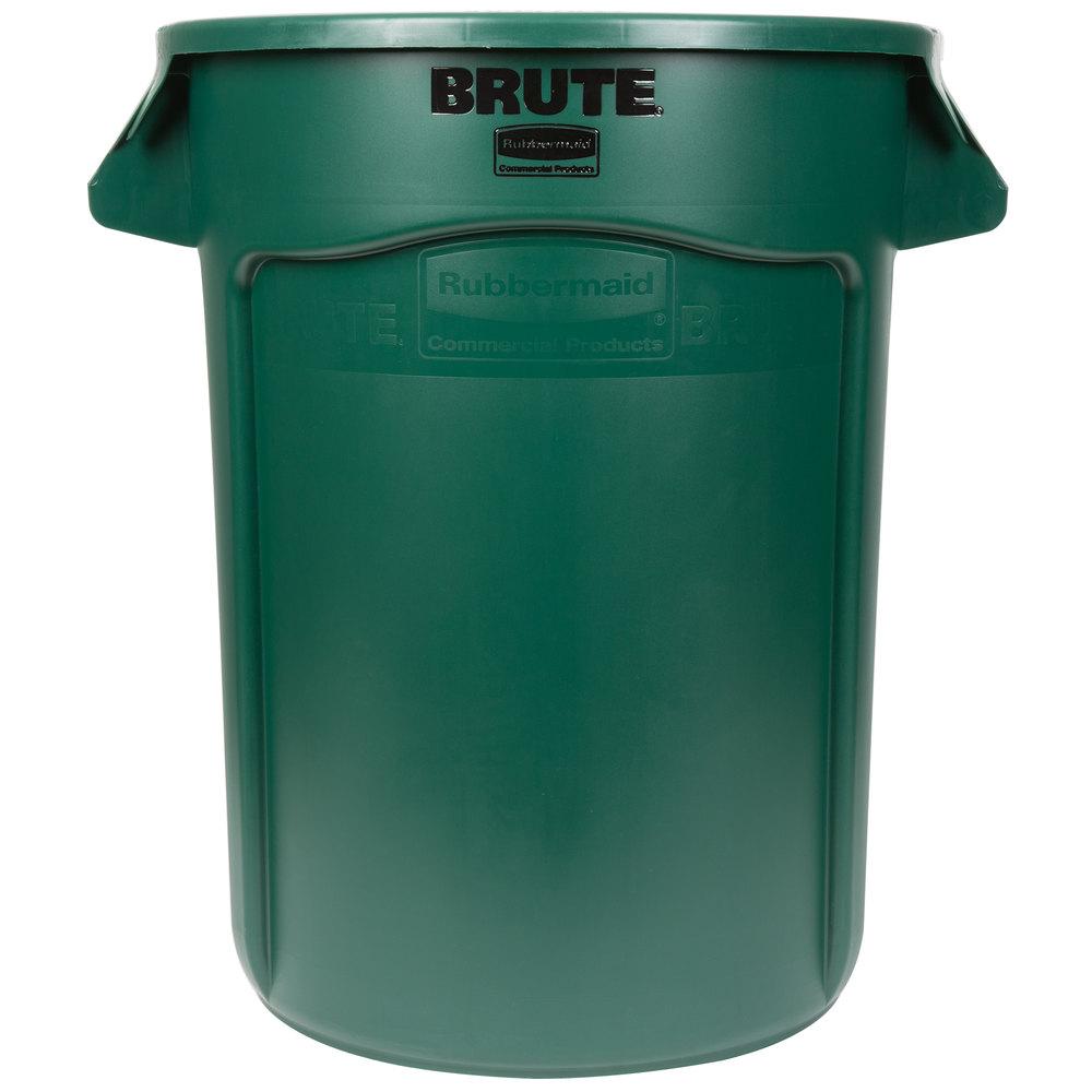 Rubbermaid FG263200DGRN BRUTE 32 Gallon Green Trash Can