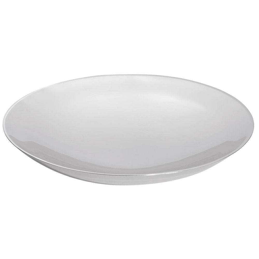 Vollrath 46224 Double Wall Stainless Steel Large Round Platter - 14""