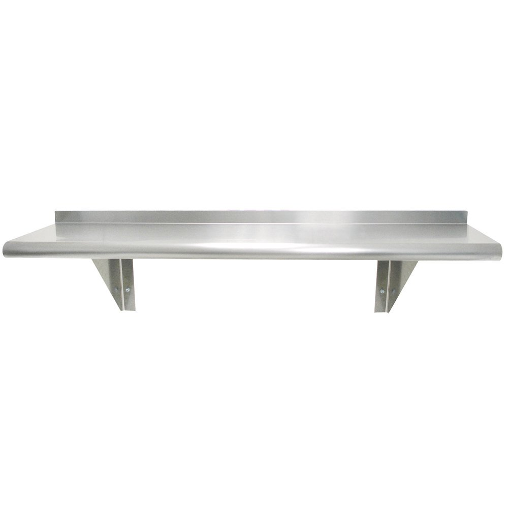 "Advance Tabco WS-18-144 18"" x 144"" Wall Shelf - Stainless Steel"