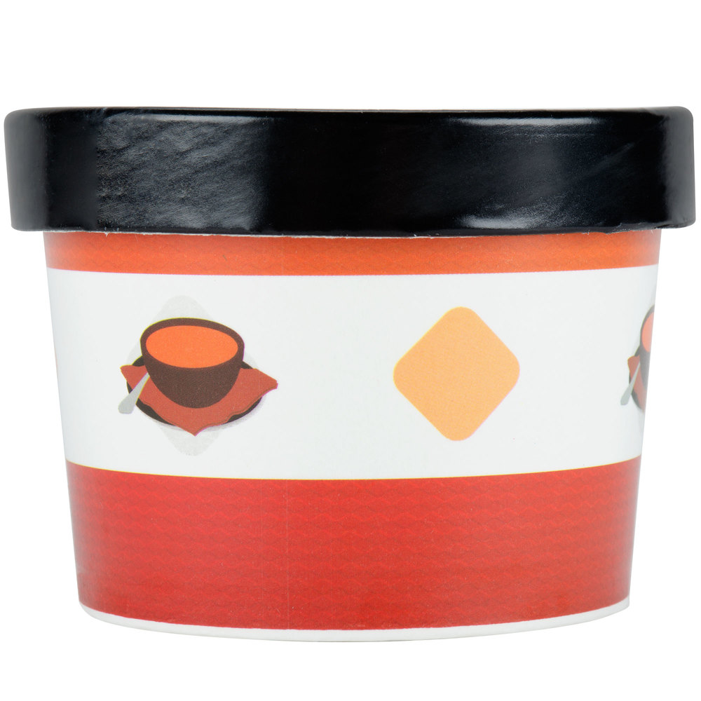 Choice 12 Oz Double Wall Poly Paper Soup Hot Food Cup