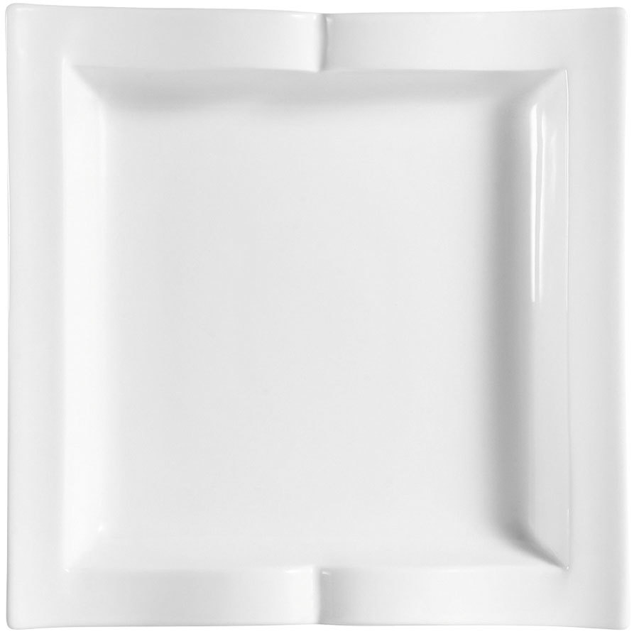 "CAC GBK-6 Goldbook Bone White Book-Shaped Square China Plate 6 1/2"" - 36/Case"