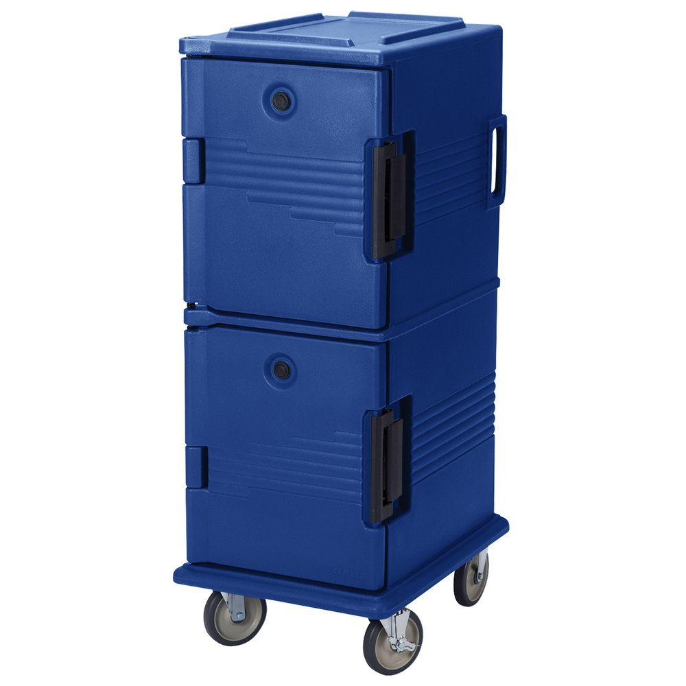 Cambro UPC800186 Navy Blue Camcart Ultra Pan Carrier - Front Load