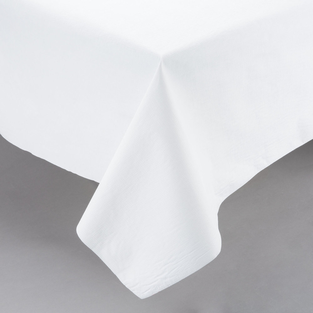 White Vinyl Table Cover With Flannel Back 25 Yard Roll