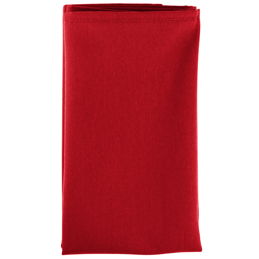 18 Quot X 18 Quot Red Hemmed Polyspun Cloth Napkin 12 Pack