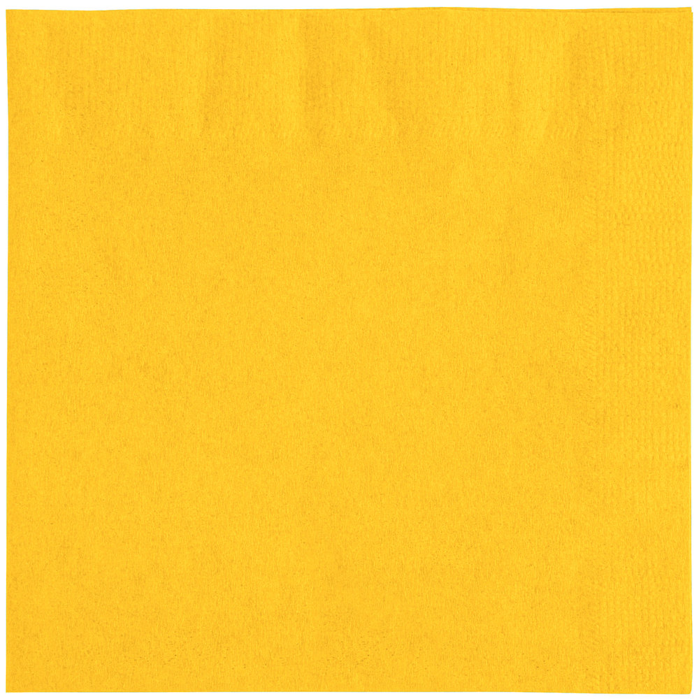 Choice 10 Quot X 10 Quot Sunny Yellow 2 Ply Customizable Beverage