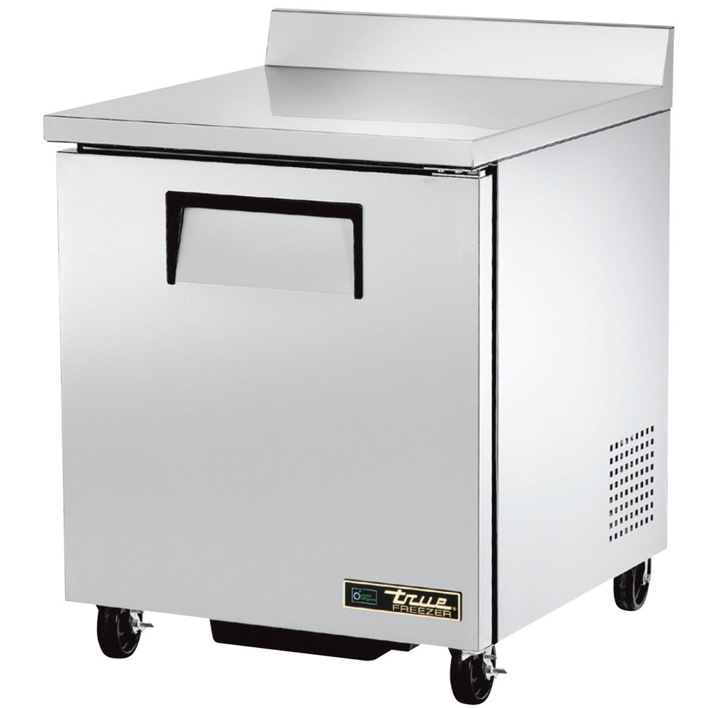"True TWT-27F-HC 27"" Single Door Worktop Freezer"
